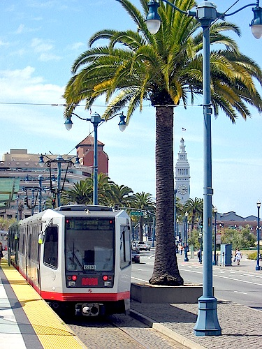 Light rail line along Embarcadero