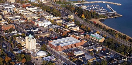 aerial - downtown Traverse City
