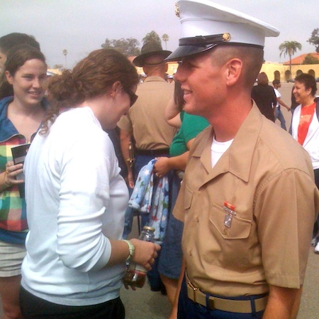 Cody Bates graduates from Marine boot camp