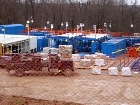 Fracking natural gas wells in Pennsylvania