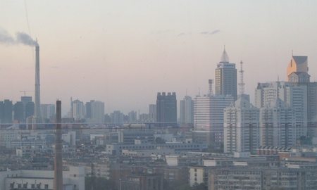 Coal plant plume in Tianjin, China