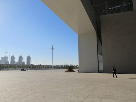 Tianjin conference-center-with-man