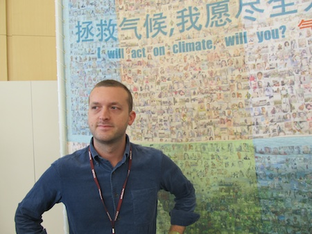 Artist Joseph Ellis, creator Great Climate Wall of China