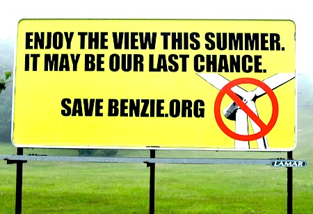 save-benzie1 billboard wind opposition
