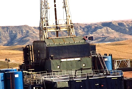 North Dakota Bakken oil-platform
