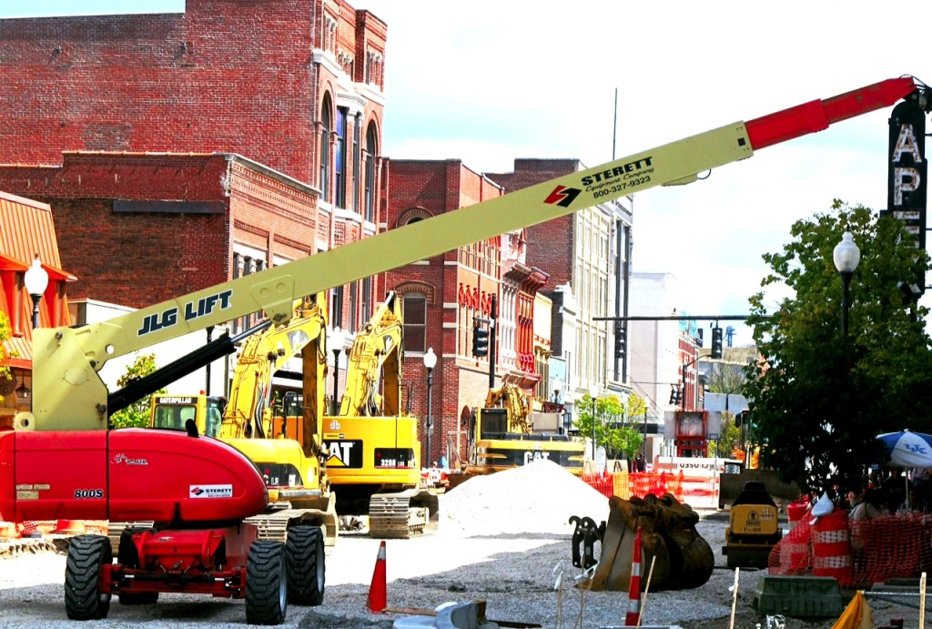 Second Street in downtown Owensboro receives a major facelift as part of the city's $225 million downtown redevelopment project. Photo/Keith Schneider