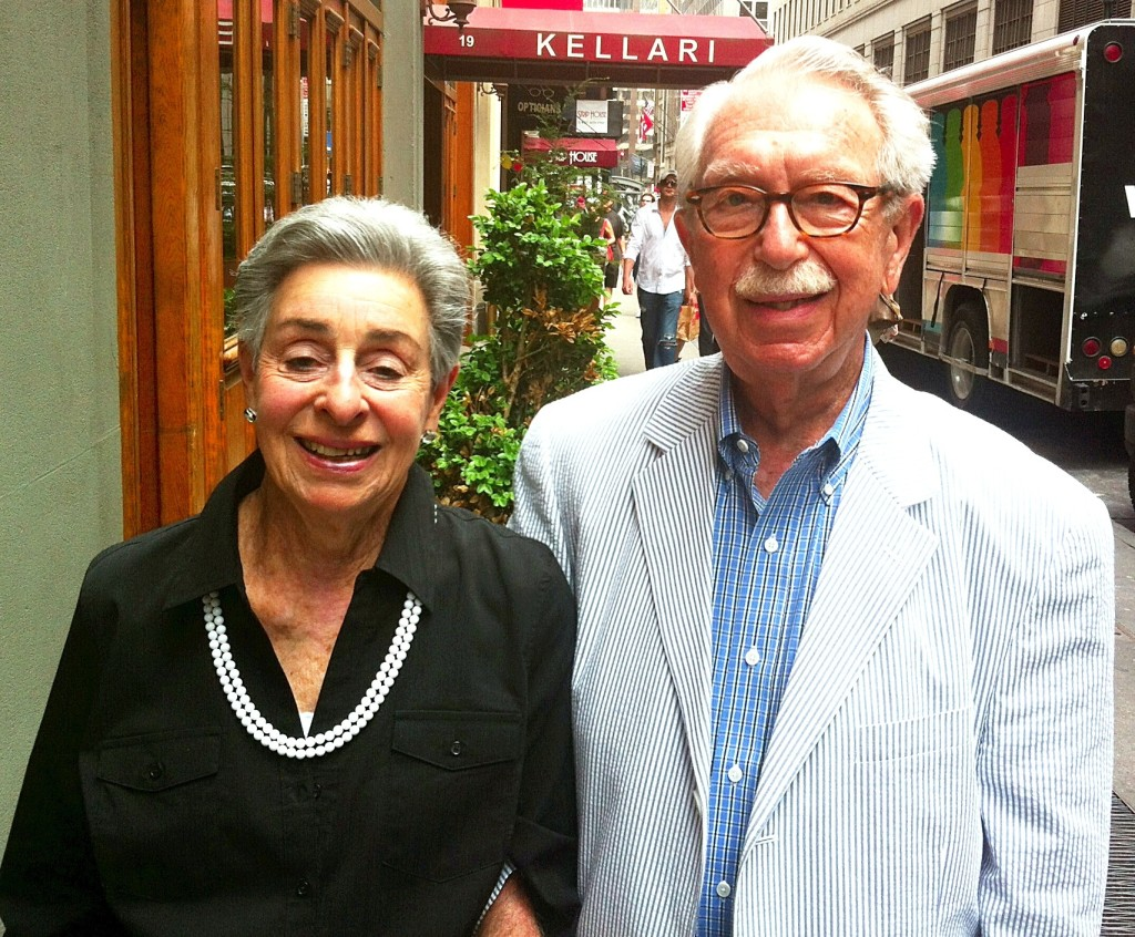 Jo-Anne and Martin Schneider in New York, May 2013. Their lifelong romance ended with his death on December 13, 2013.