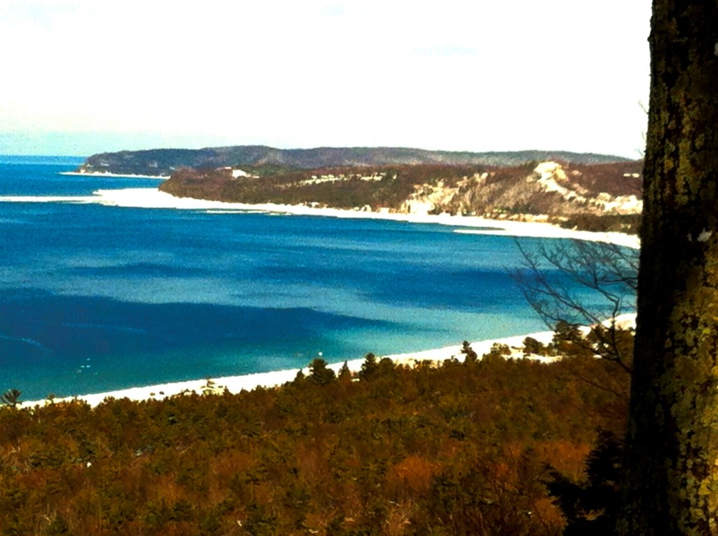 Algae blooms are marring the shores of Northwest Michigan's gorgeous national park, seen from Alligator Hill in Leelanau County. Photo/Keith Schneider