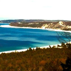 Algae blooms are marring the shores of Northwest Michigan's gorgeous national park, seen here from Alligator Hill in Leelanau County. Photo/Keith Schneider