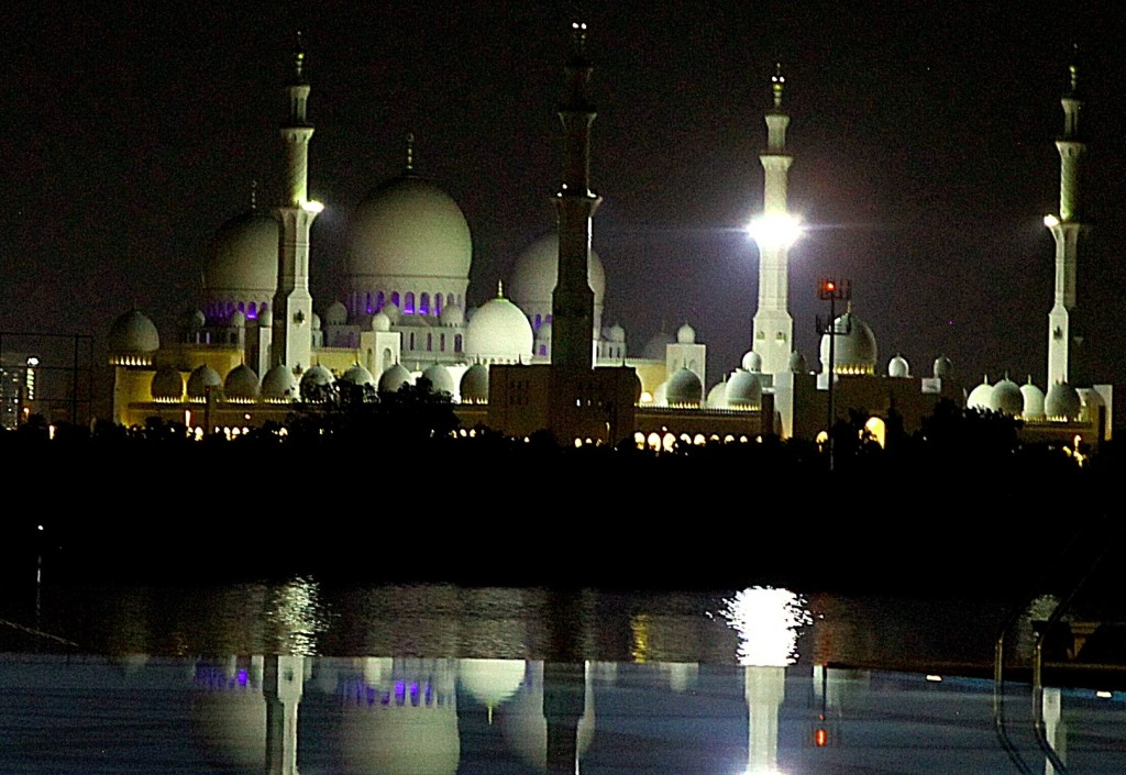 The Sheik Zayed Grand Mosque in Abu Dhabi, completed in 2007, is large enough to hold 40,000 worshippers. Photo/Keith Schneider