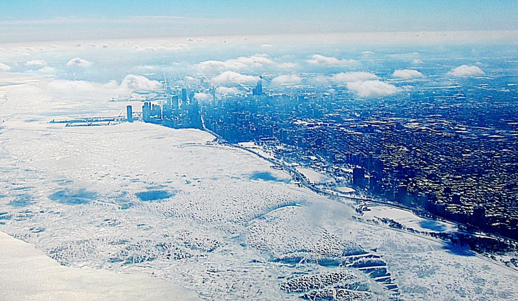 Chicago locked in ice February 2014. Photo/Keith Schneider