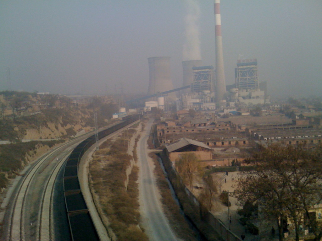 In Xian, in Shanxi Province, one of China's polluting coal-fired power plants. Photo/Keith Schneider