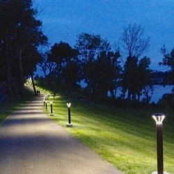Henderson's three-mile long Riverwalk spans the southern bank of the Ohio River three hours downriver from Louisville.