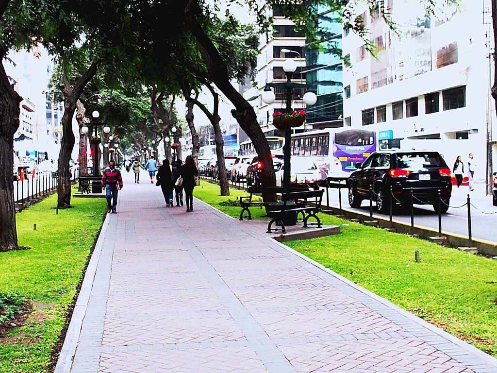 Lima's Miraflores section is a showcase of the country's wealth and sophistication. Photo/Keith Schneider