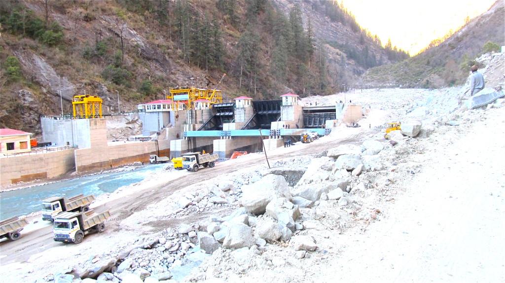 The 400-megawatt Vishnuprayag dam in Uttarakhand was buried in rubble by a June 2013 Himalayan flood. Photo/Keith Schneider