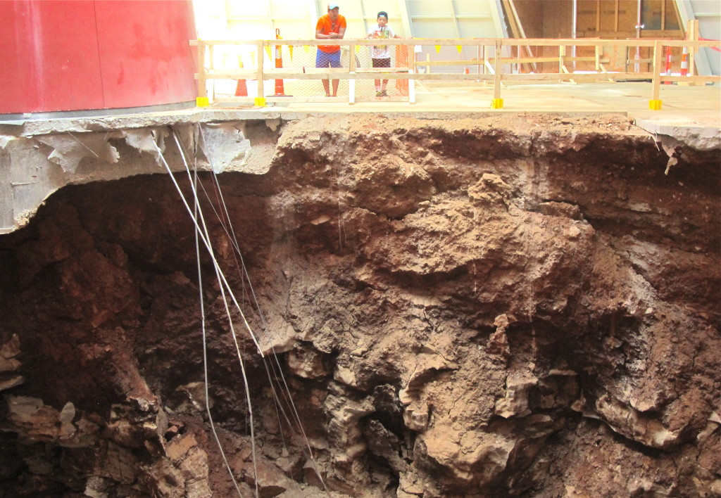 Sinkhole at National Corvette Museum in Bowling Green, KY. Photo/KeithSchneider
