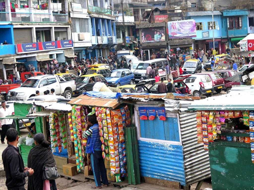 The April shutdown order affected virtually every business in Meghalaya's two big coalfields -- the  Jaintia Hills to the east, and the Garo Hills in the state's southwestern region. In Jowai's crowded market, merchants complained of slower sales. Photo/Keith Schneider