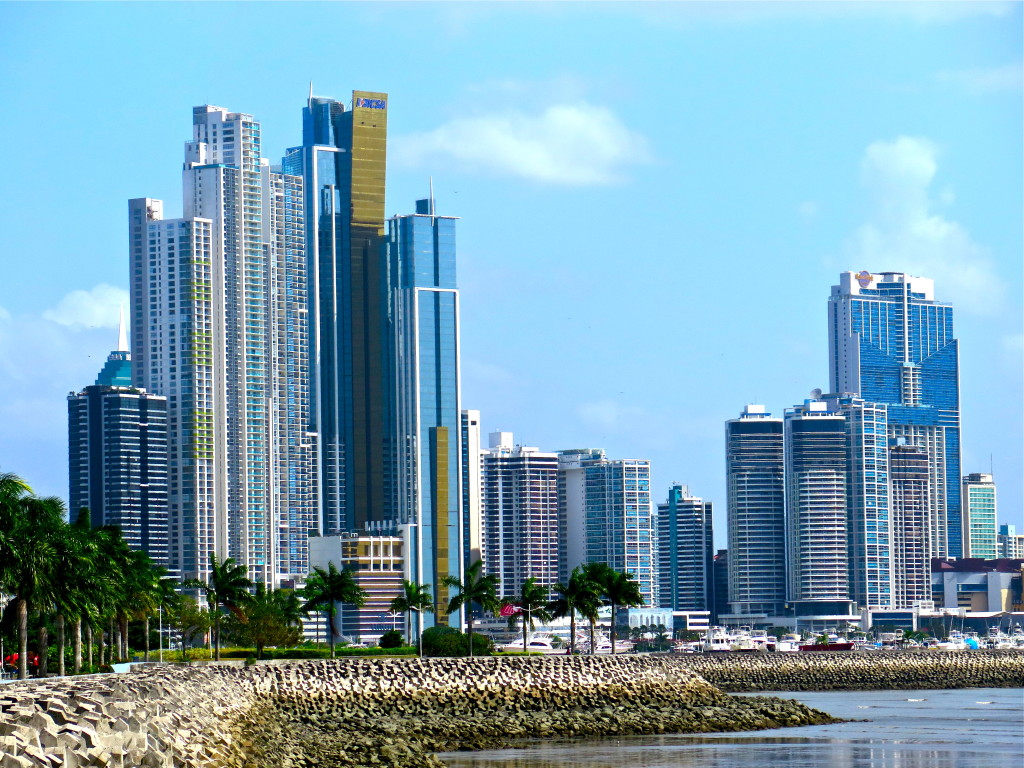 The effects of the Panama Canal expansion project on Panama's economy and management are extraordinary. Panama City displays an impressive skyline of seaside white towers that didn't exist a decade ago. The Pacific coast city has quickly become a modern global maritime capital. Photo/Keith Schneider