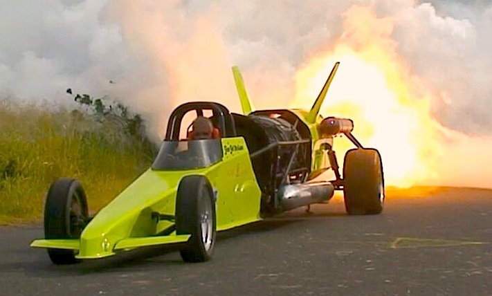 Jim 'Jet' Neilson's jet car that could set the Central American speed record on pavement in Panama City in the spring.