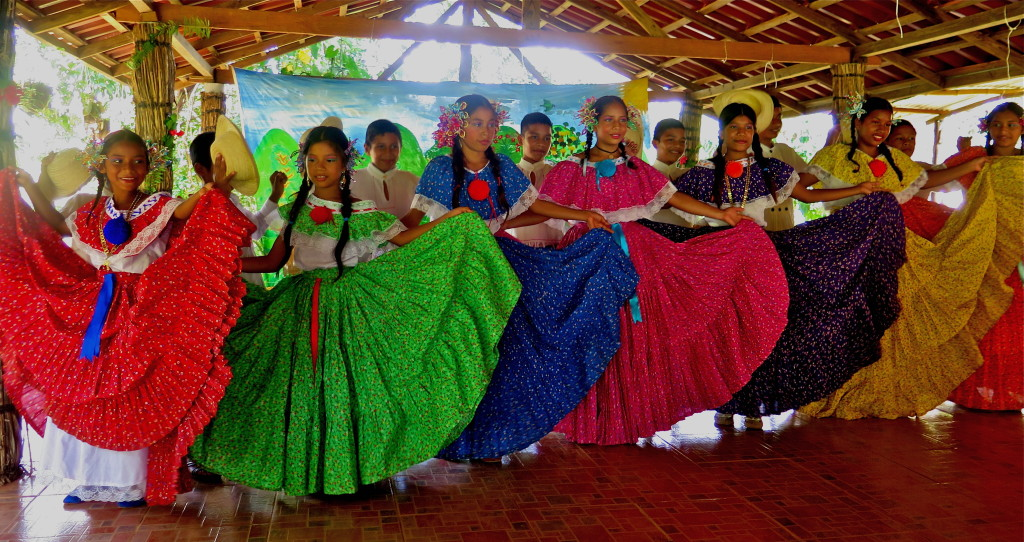 The beautiful children of Quebrada Ancha in traditional dress for Panama's wonderful dances. Photo/Keith Schneider