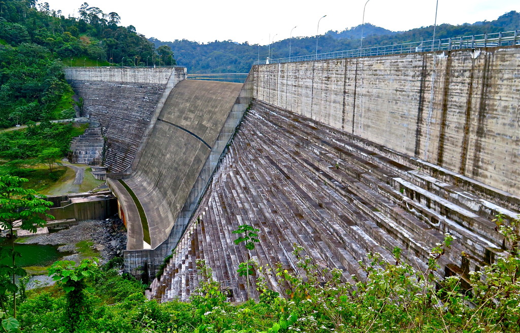 The concrete 223-megawatt Changuinola I dam began operations in 2011 and enhancing Panama's electrical generating capacity. It also formed a big backwater lake, drove 1,000 villagers from their homes, and ignited years of cultural strife. Photo/Keith Schneider