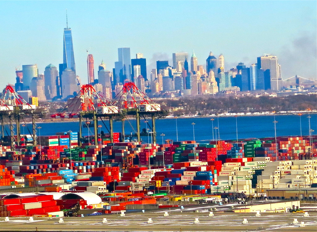 New York's port is deep enough for the world's largest ships. But the Bayonne Bridge needs to be raised to allow them to sail in, a project that could cost over $1 billion.