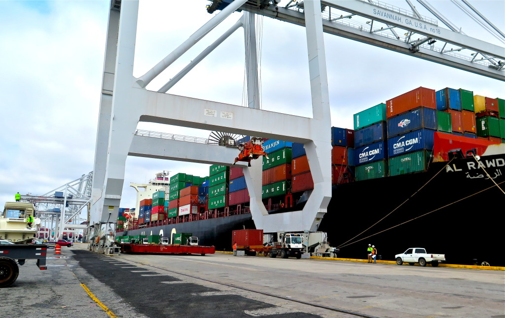 Georgia's Garden City Terminal near Savannah is the nation's fourth largest container port. Georgia and the federal government spent $758 million over the last decade to expand and modernize the port. Photo/Keith Schneider