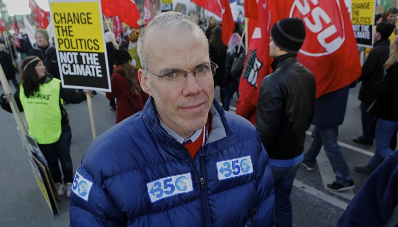 Bill McKibben, co-founder of 350.org, whose journalism and advocacy served to elevate global activism to solve climate change. Photo/ J. Carl Ganter
