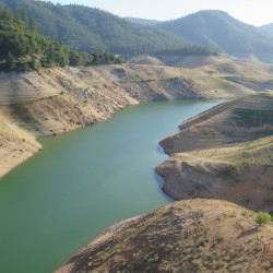 he depleted condition of Lake Oroville is an apt example of California's challenge in the 21st century. The state is drying. The lake in northern California is 42 percent of capacity and receding  daily. Photo/ Keith Schneider