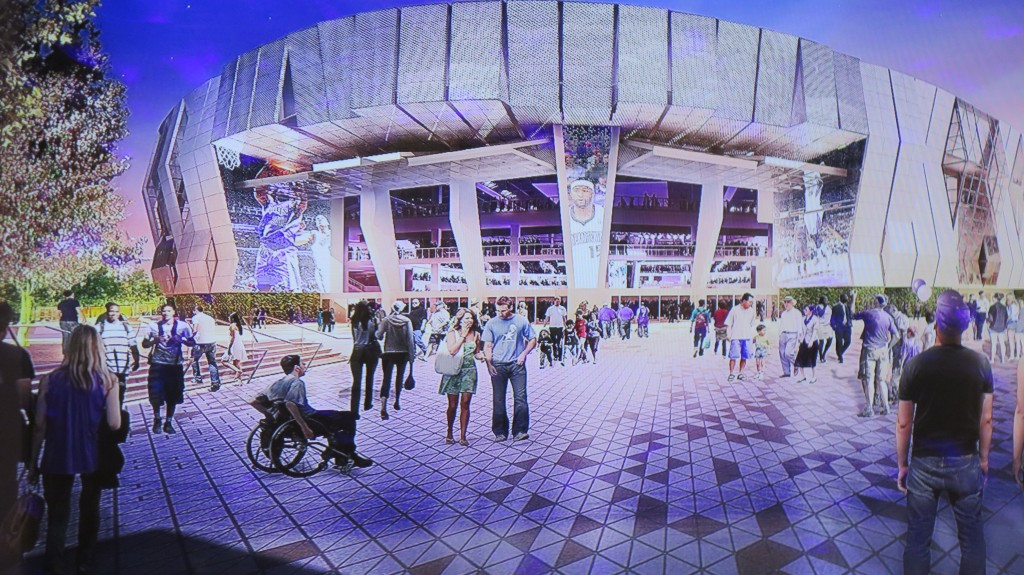 Sacramento's new wired arena for its NBA Kings team. Photo/Keith Schneider