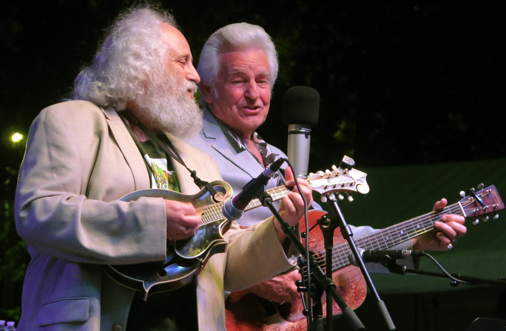 David Grisman (,mandolin) and Del McCoury perform at ROMP 2015.