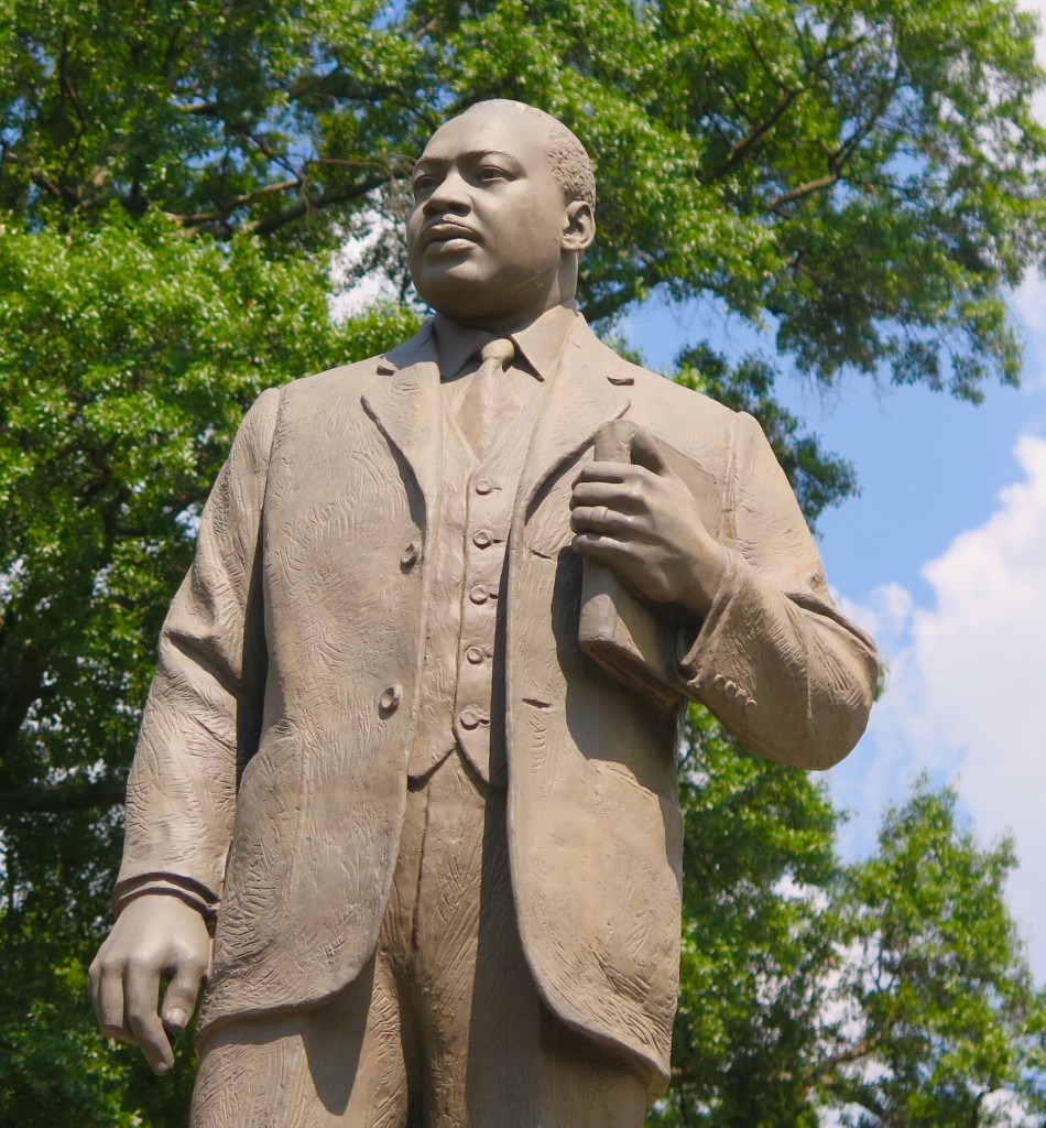 Dr. Martin Luther King Jr. was active in organizing civil rights action in Birmingham in the 1960s and is honored with a statue in Kelly Ingram Park. Photo: Keith Schneider
