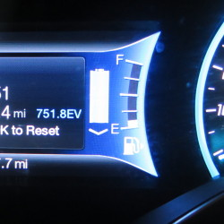 Ford CMax-Energi plug-in hybrid clocked in at 1039 miles per tank between fill-ups. Photo: Keith Schneider