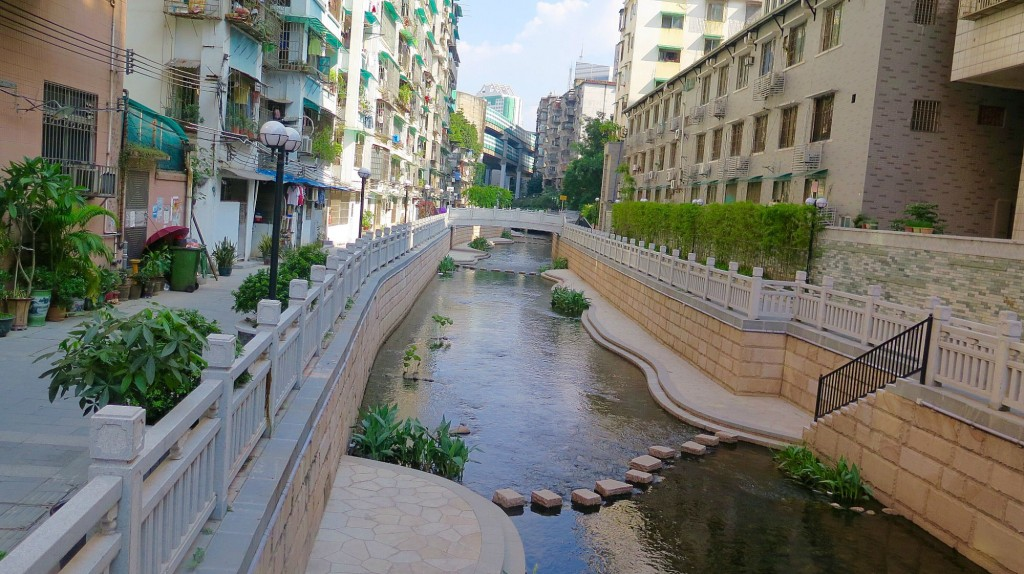 China's mastery of public space design and water architecture is evident in Donghao Chung, once an ancient moat, then a sewer, and now an urban oasis. Photo: Keith Schneider