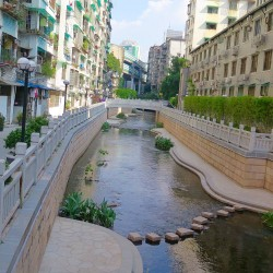 China's mastery of public space design and water architecture is evident in Donglao Chung, once an ancient moat, then a sewer, and now an urban oasis. Photo: Keith Schneider