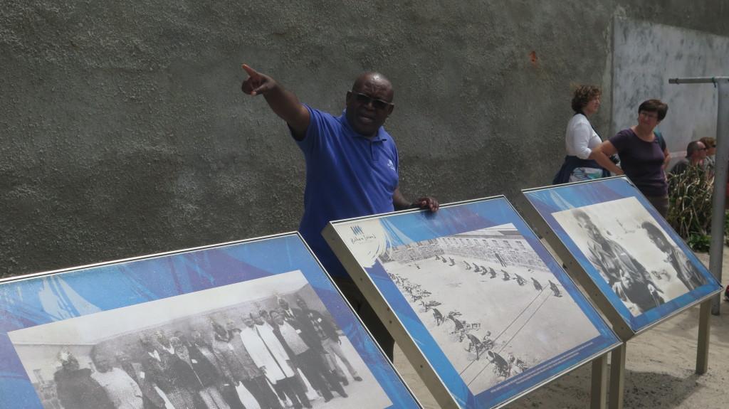 Kgotso Glen Ntsoelengoe, former political prisoner and tour guide at Robben Island. Photo/Keith Schneider