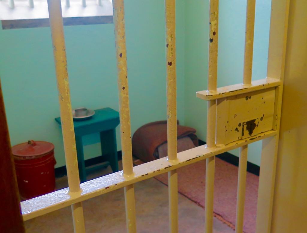 Nelson Mandela's cell in Block B at Robben Island. Photo/Keith Schneider
