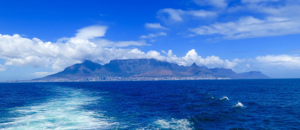 Nine miles of frigid ocean separate Robben Island from Cape Town and Table Mountain. Photo/Keith Schneider