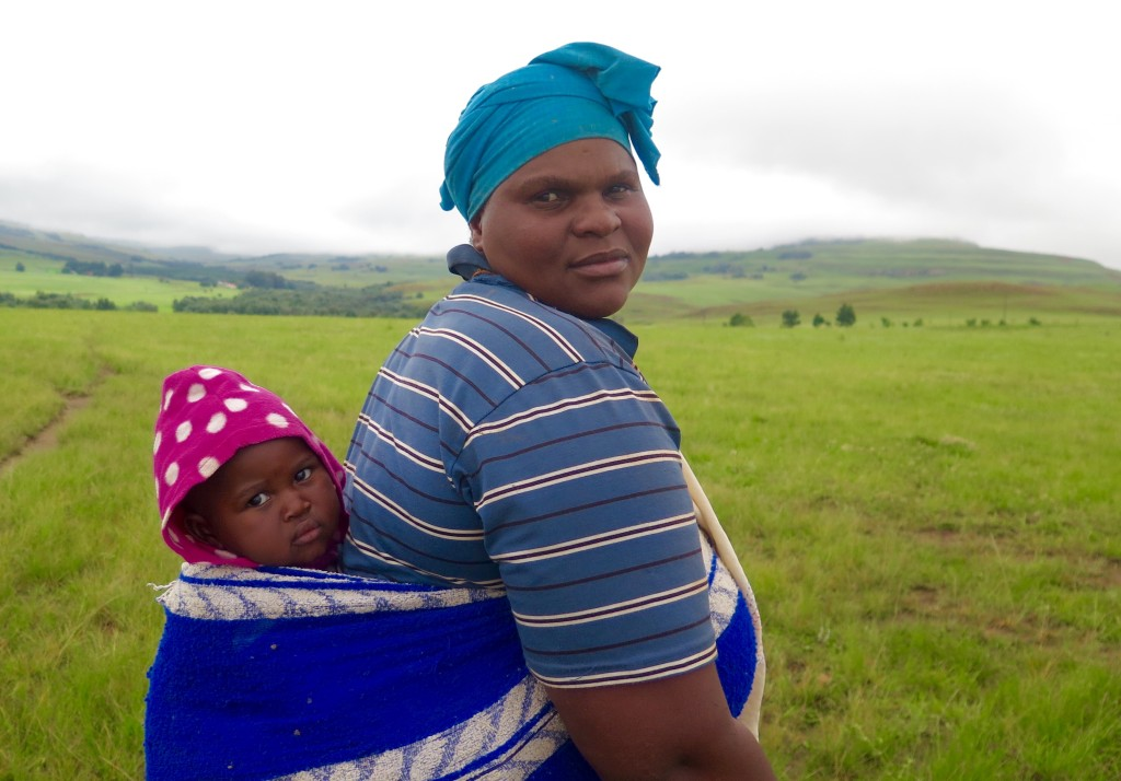 Juliette Ndosi and her son, Tobi, live near the site of a proposed underground mine in northern KwaZulu-Natal province. Photo/Keith Schneider