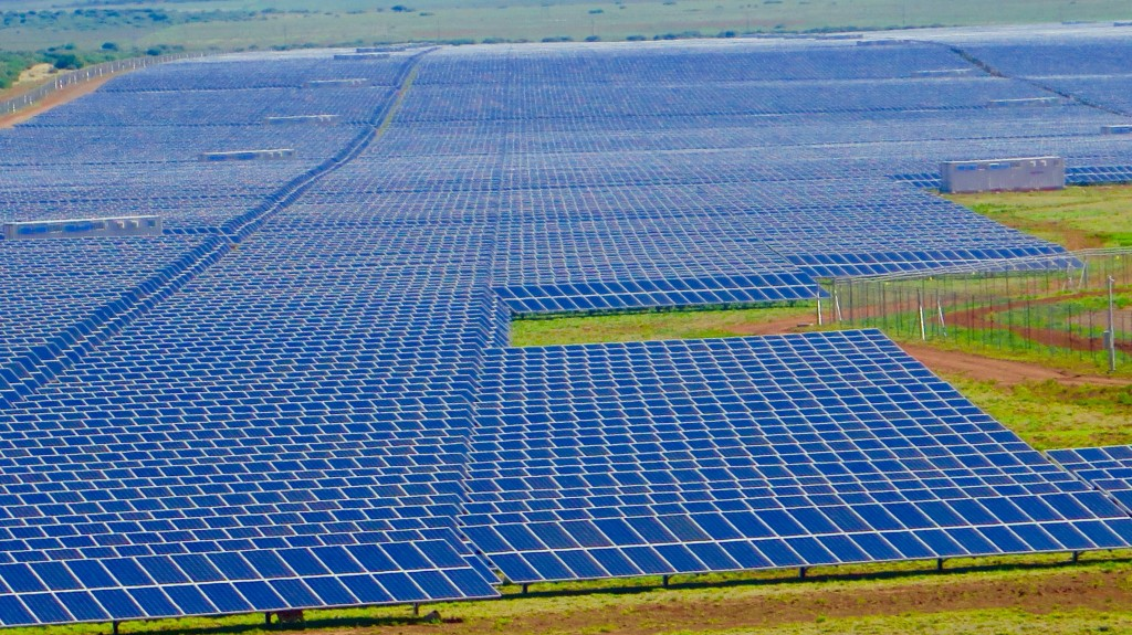 The 96-megawatt Jasper solar station in Northern Cape province. Photo/Keith Schneider