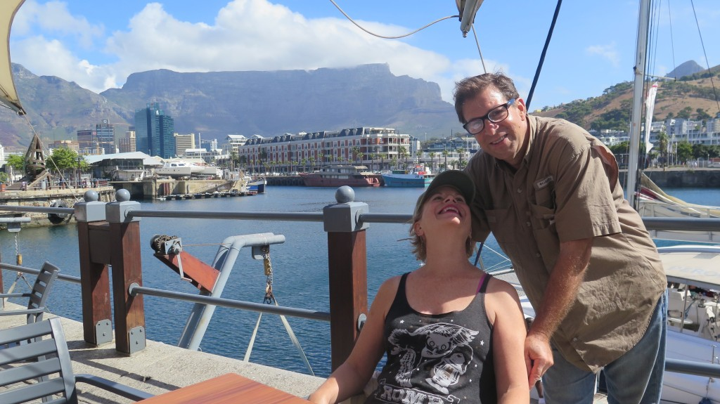 Gabrielle Gray and Keith Schneider in Cape Town February 2016. Photo/Keith Schneider