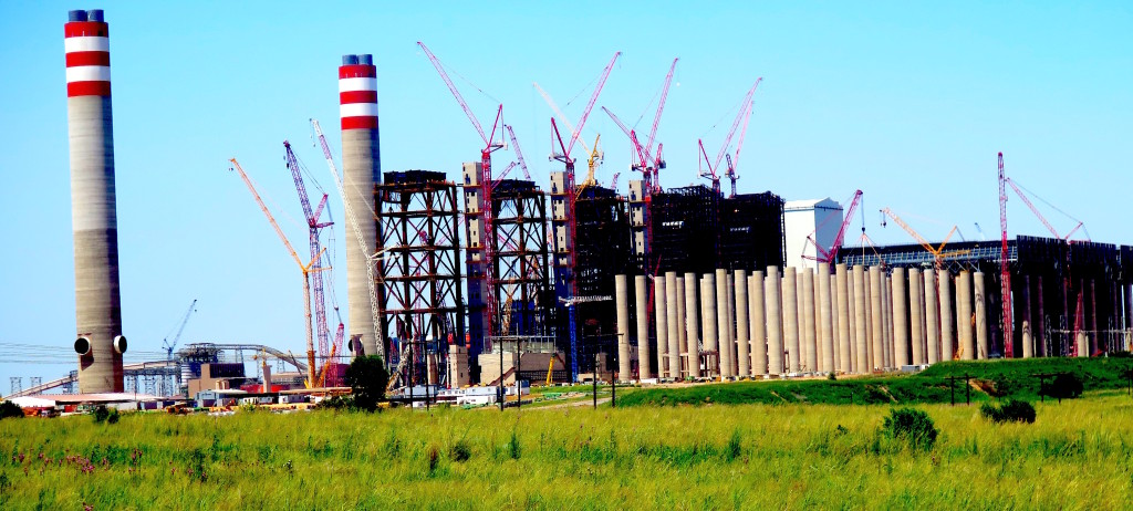 The $16 billion, 4800-megawatt Kusile coal-fired power station in South Africa. It's cost, complexity, size, and water consumption may make the plant a potential stranded asset years before its anticipated completion in the early 2020s. Photo/Keith Schneider