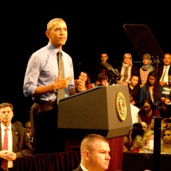 Barack Obama was the first president to visit Flint in 42 years. Water contamination was the summons. Photo/Keith Schneider