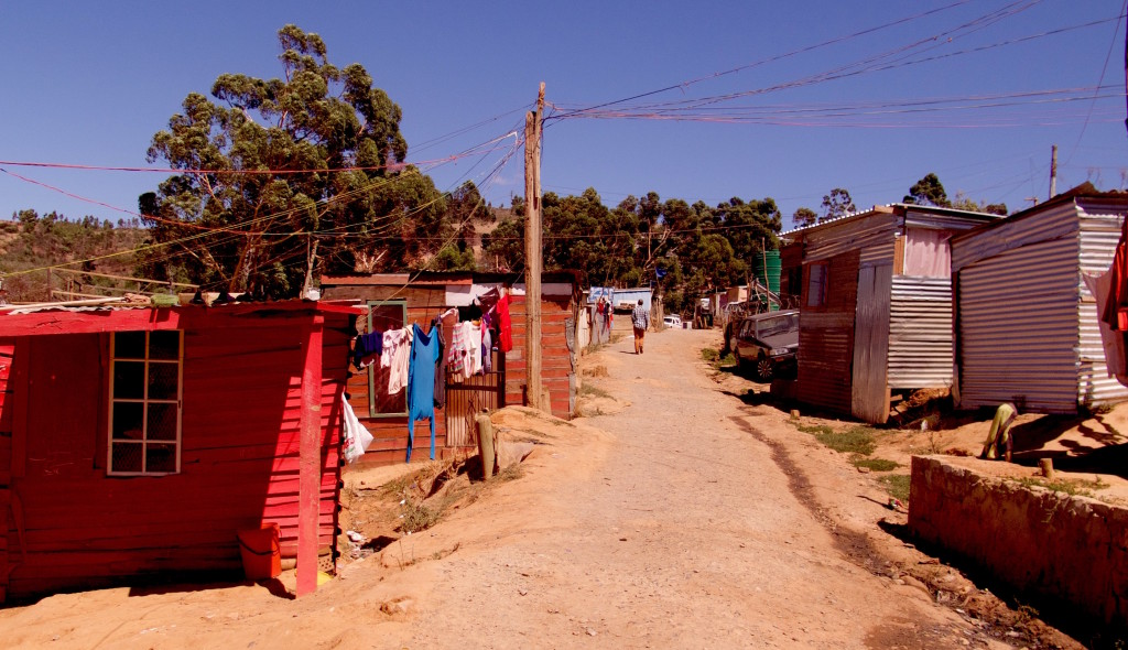 Millions of South Africans live in informal settlements with scant access to electricity, running water, and sanitation. This settlement is in Paarl. Photo/Keith Schneider