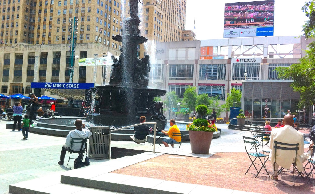 Fountain Square in Cincinnati. Photo/Keith Schneider