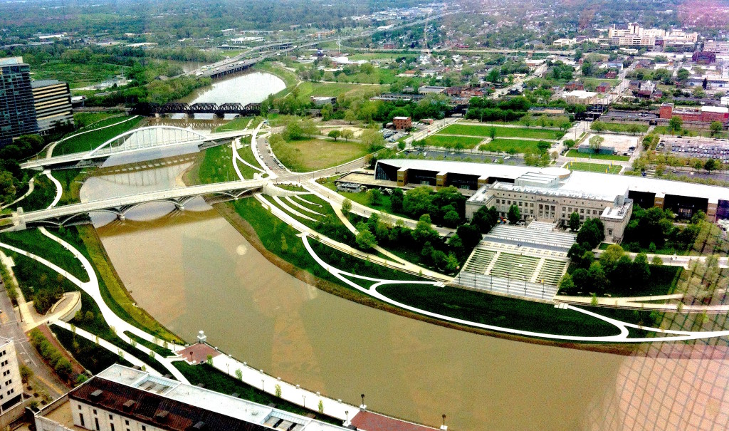 Ohio's capital city adopted a reconstruction plan for encouraging development 14 years ago that emphasized three unexpected ingredients: more grass, less water and targeted taxpayer spending. Photo/Keith Schneider