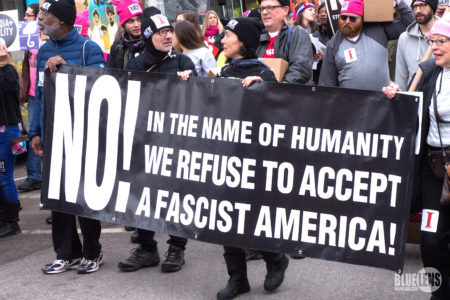 Huge marches and demonstrations have greeted President Trump's first weeks in office.